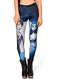 Itas le Pantalon de Jambières et Legging & Le Legging à la Mode Stretch Imprimé des Noces Funèbres en Née de Lait