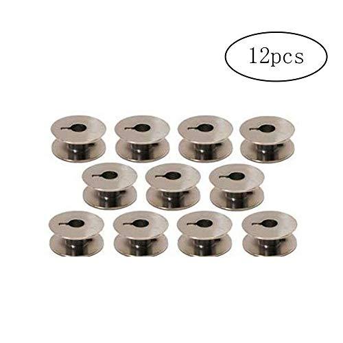 Ndier 12 Machine à Coudre Bobines en métal Mini Bobines Bobine pour Janome 1600P Series, série Juki TL, série PQ Frère