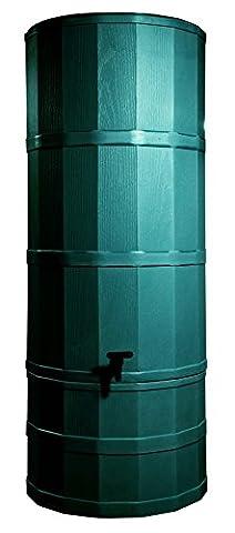 Grün 200L Liter Tower Regentonne Kit mit Ständer, umlenkventil, und Wasserhahn
