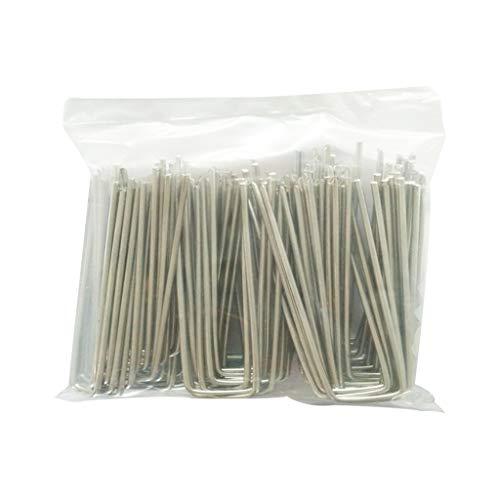 Kräuter-nagel (Yanhonin 50 Stück Befestigungsheringe aus Stahl, Gartenpfähle Rasen Klammern in U-Form für falsche Nägel Kräuter (1#))