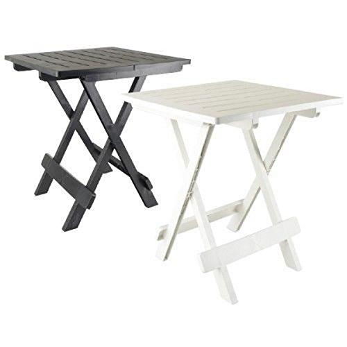 NOIR : TABLE APPOINT PLIANTE 50 X 45 X 43 CAMPING PORTABLE JARDIN EXTERIEUR PLIABLE