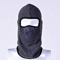 LFYPSM Máscara De Esquí para Hombre Transpirable para Mujer Espesar Fleece Cálido Cálido Pasamontañas Sombrero Máscara Facial Completa Sombrero Bufanda Negro Gris Verde Militar,Grey
