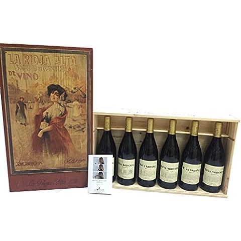 Caja de madera 6 botellas + Librito de Catas de REGALO - La Rioja Alta - Viña Ardanza Reserva