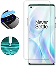 Oneplus 8 Pro Screen Protector, Baytion Oneplus UV Tempered Glass [Exclusive Solution for Ultrasonic Fingerpri