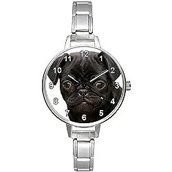 Reloj para mujer Carlino negro Italian Charms
