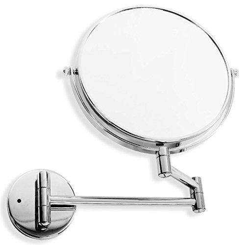 casa pura Kosmetikspiegel für die Wandmontage | 3 Hohe Vergrößerungsgrade Wählbar (7-Fach)