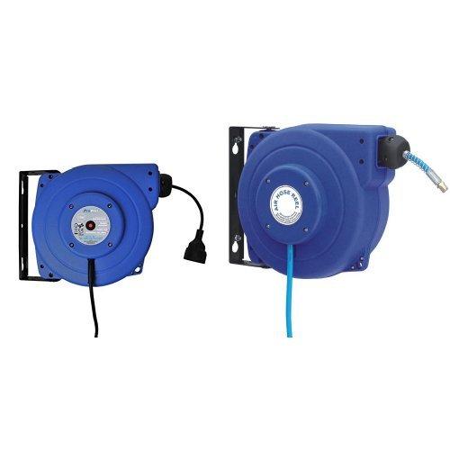 Preisvergleich Produktbild ProPlus 580786 Automatischer Kabelaufroller 15M und ProPlus 580758 Automatischer Luftschlauchaufroller 12M