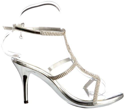 Unze Evening Sandals, Sandali donna Argento (Silber (L18210W))