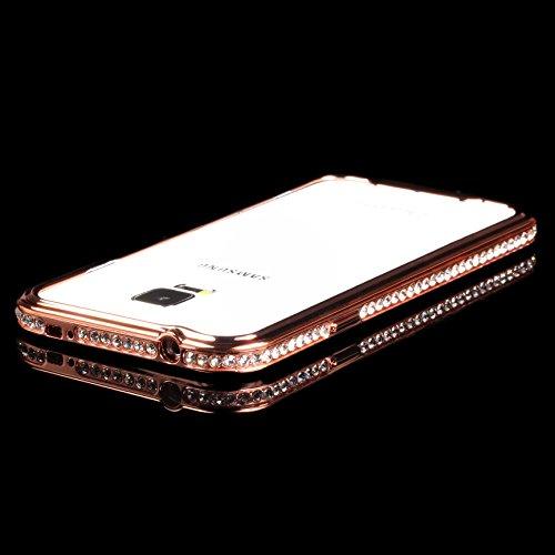 URCOVER® Cadre de Métal Glittery en Aluminium - Coque Strass Scintillantes | Apple iPhone 6 | Metal - ALU in Cuivre-or | Housse Case Cover Pailleté Faux Diamant Cuivre-or
