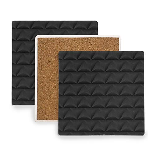 Schwarzes Dreieck-bar Set (Verycoolthiskid Nahtloses Muster Mit Schwarzen Dreiecken Untersetzer für Getränke Untersetzer Untersetzer Untersetzer Set Cup Mat Pad 4er Set)