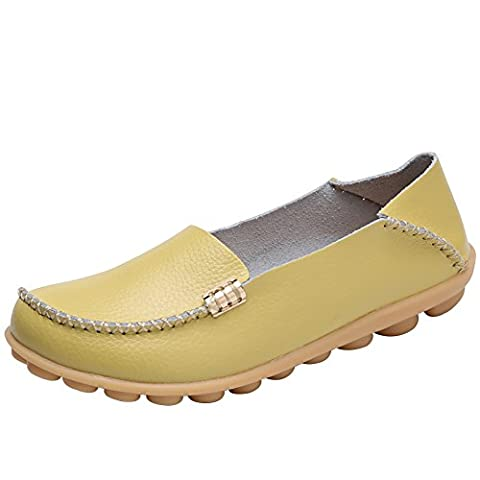 Verocara Women's Tanner Pebbled Leather Flat Boat Shoes Casual Shoes
