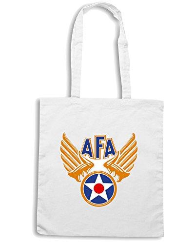 T-Shirtshock - Borsa Shopping TM0415 AFA-Logo Bianco
