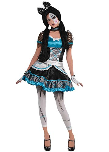Halloween Broken Kostüme Doll (Kinder und Teen Halloween Blue Broken Doll Kostüm Large (10-12)