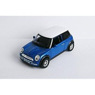 Anik-Shop Mini Cooper 11cm Modellauto Metall Modell Auto Spielzeugauto 4 Varianten 33 (Blau-Metallic)