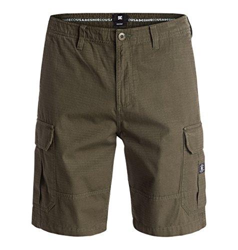 DC Ripstop - Pantaloni corti cargo da uomo, Uomo, Shorts Ripstop Cargo, Verde oliva scuro, 34