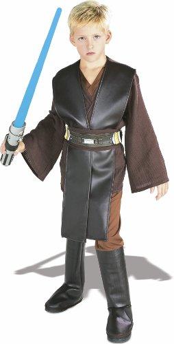 Star Wars Kinder Deluxe Kostüm Anakin Skywalker Gr. L 8 bis 10 Jahre (Star Wars Deluxe Anakin Kind Kostüm)