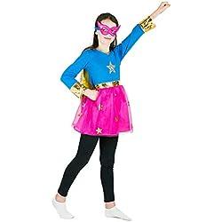 Bodysocks® Disfraz de Superhéroe Niña (3-5 años)