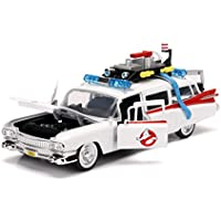 Ghostbusters Jada Toys Hollywood Rides Ecto-1 Die-Cast Collectible Toy Model Car/Vehicle, White, 1:24 Scale