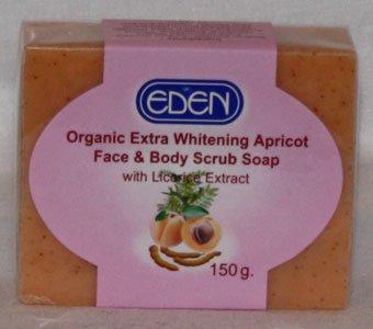 Whitening-apricot (Eden Organic Extra Whitening Apricot Face & Body Scrub Soap 150g - By SONIK PERFORMANCE by Eden)