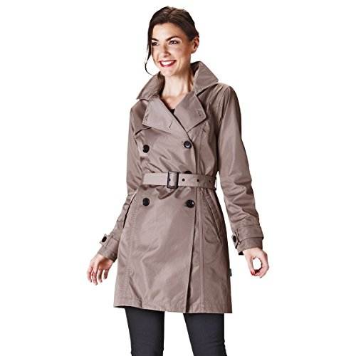 HappyRainyDays - Femme | Trench-coat imperméable à capuche | version exclusive Taupe