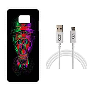 Designer Hard Back Case for Samsung Galaxy S7 with 1.5m Micro USB Cable