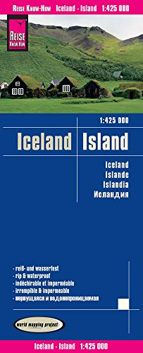 Islandia, mapa impermeable de carreteras. Escala 1:425.000. Reise Know-How. por VV.AA.