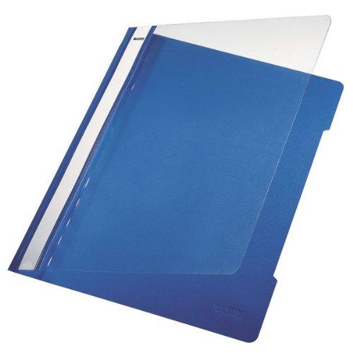 Esselte Leitz Hefter Standard, A4, langes Beschriftungsfeld, PVC, blau