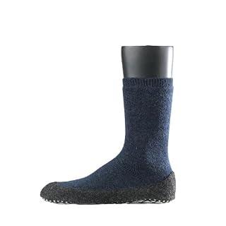 FALKE Herren Socken Cosyshoe rutschfeste Haussocken - 1 Paar, Gr. 43-44, blau, Stoppersocken mit Noppen