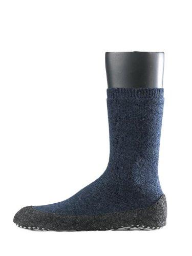 FALKE Herren Socken Cosyshoe rutschfeste Haussocken - 1 Paar, Gr. 45-46, blau, Stoppersocken mit Noppen
