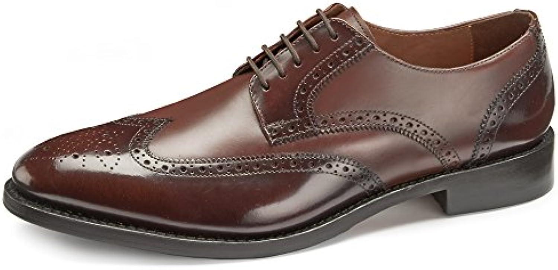 samuel windsor à goodyear hommes trépointe cuir cuir cuir italien partage moi Marron  Chaussure  avec semelle en caoutchouc, insérer 43cb49