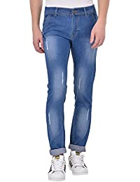 ANSH FASHION WEAR Men's Distressed Denim Jeans - Contemporary Denims For Men - Rugged Mid Rise Comfortable Jeans...