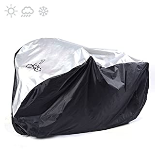 ANFTOP For 1 Bike Cycle Bicycle Cover Outdoor Outside Storage Rain Waterproof Scooter Cover For one Mountain Bike Road Bike All Weather Dust Resistant UV Protection