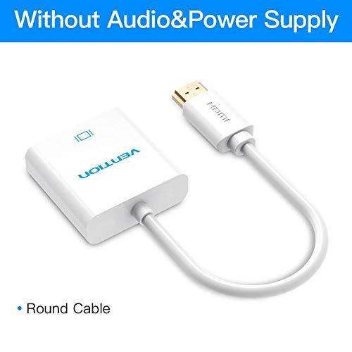 HDMI-auf-VGA-Adapter Digital-Analog-Video-Audio-Konverter-Kabel 1080p für Xbox 360 PS3 PS4 PC Laptop TV Box-Projektor, wissen Keine Audio0.15m (Xbox 360 Slim Bundle Weiß)