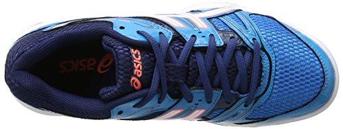 Asics Damen Gel-Rocket 7 Volleyballschuhe Blau (Blue Jewel/white/flash Coral)