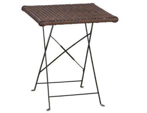 siena-garden-673134-halifax-table-pliante-acier-noir-moka-bicolore-verre-clair-60-x-60-cm