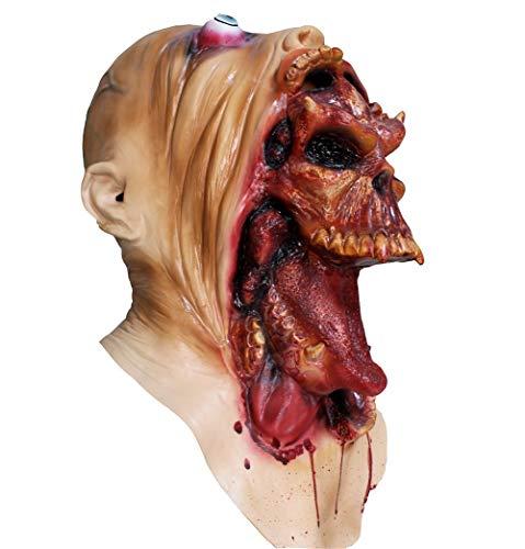 Hengyutoy Mask Halloween Kostüm Prop Horror schreckliche Latex Maske Erwachsene Größe (Kostüm Halloween Horror Maske)
