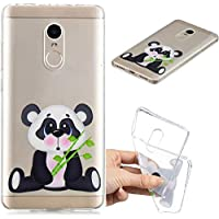 BONROY Xiaomi Redmi Note 4/Note 4X Hülle, Gemalt Series Transparent Weiche Silikon Schutzhülle TPU Bumper Case für Xiaomi Redmi Note 4/Note 4X - (HC-Bambuspanda)