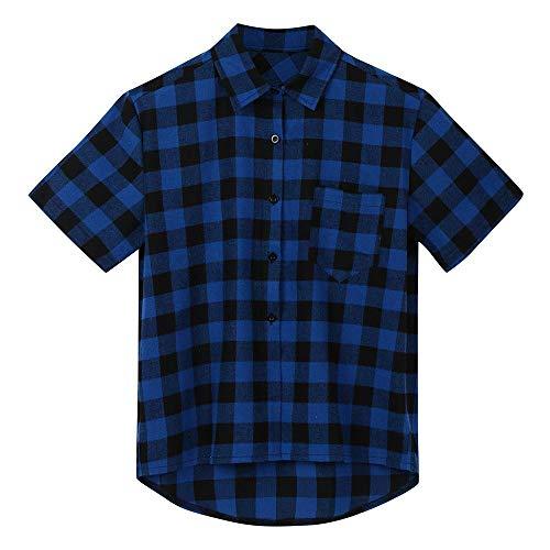 Doublehero Herren Hemd Langarm Slim Fit Streifen Kariert Regular fit T-Shirt Strand Shirts Casual Tops für Anzug/Business/Hochzeit/Freizeit,Hemden Shirts für Männer Kurzhemden