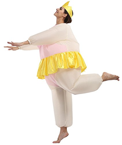 Disfraces Inflatable de Bailarina Costume Suit Adulto Inflables Disfraces hinchaple traje Fantasia para Fiesta Halloween Cosplay