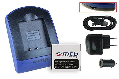 Baterìa + Cargador (USB/Coche/Corriente) NP-50 para Fuji F50fd F60fd F70EXR....XP100 XP110.../ Kodak...Pentax... ver lista!