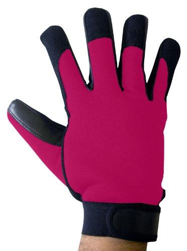 BOSS Tech-Produkte, Inc. Mechaniker-Stil Touchscreen Handschuhe für alle Touchscreen Elektronischer Geräte schwarz/pink -