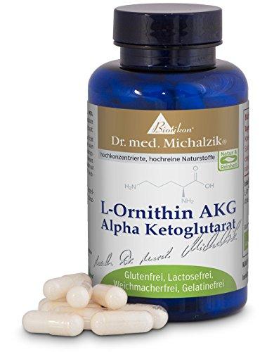 L-Ornitina AKG di Dr. med. Michalzik - senza additivi, 60 capsule
