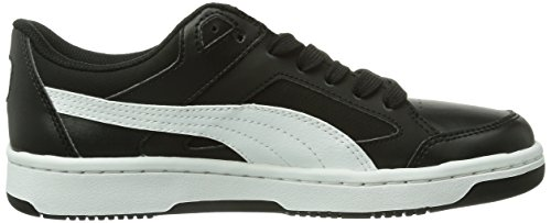 Puma Rebound V2 Lo, Jungen High-Top Sneaker Schwarz (Noir (Black/White/Limoges))