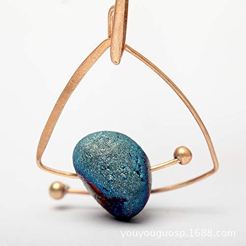 Tempshop orecchini con pietre naturali stellate di design originale