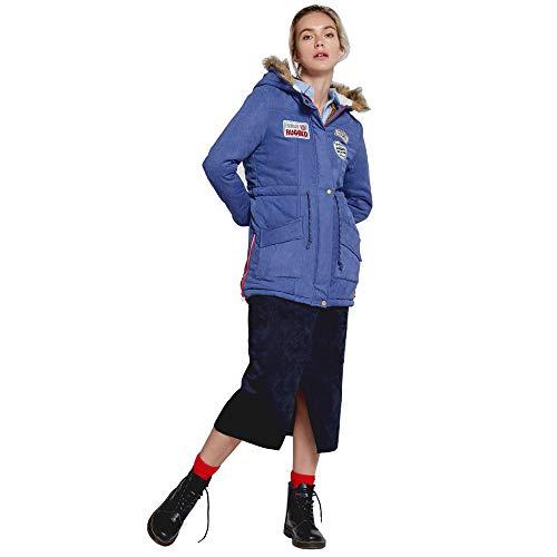 Damen Mantel Mit Kapuze Lange Steppjacke Damen Leicht Freien Sport Mantel Cool Elegant Langarm Pen Front Kurz Blazer Jacke mit Taschen Taste Freizeitjacke Outwear Coat QINGXIA_ZI