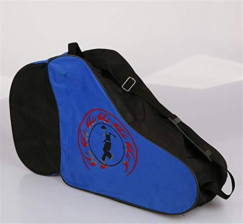 MS.REIA 2 STÜCKE Roller Skate Bag Tragbare Gym Sport Schuhe Tasche Wasserdicht Mit Reißverschluss Blau Für Kinder (Bag Roller Gym)