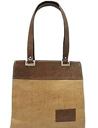 Ranbed Womens Leather Handbag_Brown