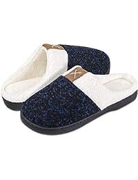 Inverno Pantofole Donna Peluche Cotone Scarpe da Casa Morbido Antiscivolo  Caldo Comode Memoria Schiuma Pantofole per d083df87ff6
