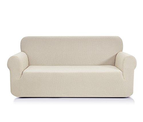 CHUN YI 1-Stück Jacquard Sofaüberwurf, Sofaüberzug, Sofahusse, Sofabezug für Sofa, Couch, Sessel, mehrere Farben (Beige, 3-sitzer)