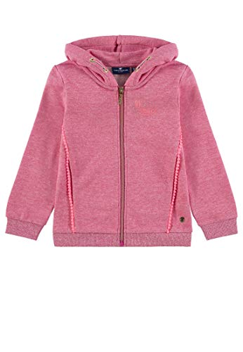 TOM TAILOR Kids Mädchen Sweatjacket Placed Print Sweatjacke, Rosa (Raspberry Sorbet|Pink 2210), 104 (Herstellergröße: 104/110)